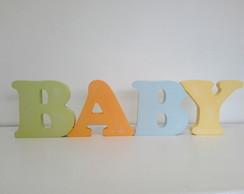 Palavra decorativa letras unidas