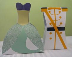 Caixa Vestido e Uniforme-Ariel e Eric