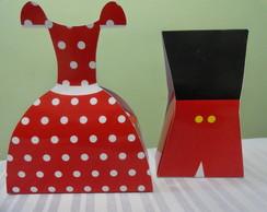 Caixa Vestido e Uniforme-Minnie/Mickey
