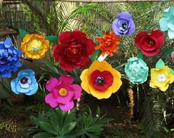 Flores gigantes para decora��o