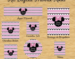 Kit Digital Festa Infantil Minnie Rosa
