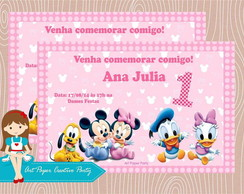 Arte Convite Baby Disney