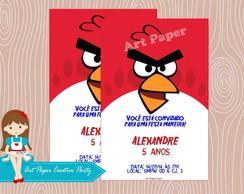 Arte Convite Angry Birds