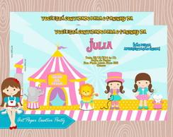 Arte Convite Circo Menina