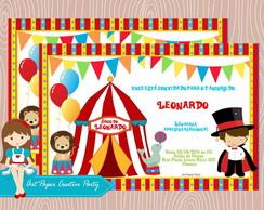 Arte Convite Circo