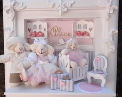Quadro Maternidade Beb� Fam�lia Ovelhas