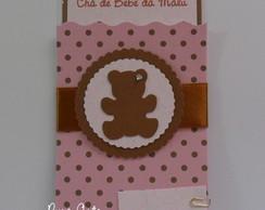 Convite Ch� De Beb� Ursa Rosa/marrom