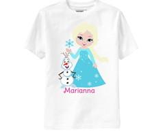 Camiseta Frozen Princesa Elsa e Olaf