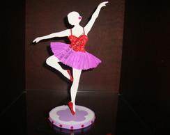 Enfeite de mesa bailarina