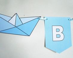 Bandeirola Barquinho de Papel