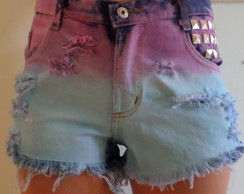 Shorts jeans customizado 2 cores