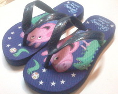 Chinelo personalizado George pig
