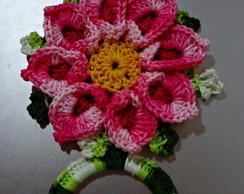 Porta toalha ou pano de prato Flower