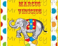 R�tulo Tubete Circo