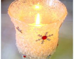 Porta velas Flocos
