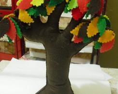 �rvore de feltro - folhas coloridas