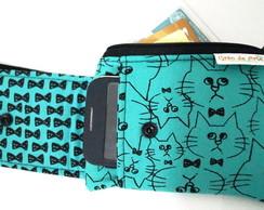 Porta celular e cart�o gato de gravata c