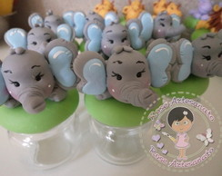 Lembrancinha Elefantinho mini Potinho