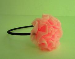 Tiara com flor de tecido - uma flor.