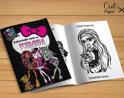 Revista para colorir Monster High