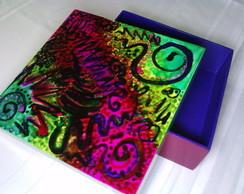 Caixa quadrada Colorida
