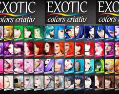 Tintas fantasia Exotic Colors.
