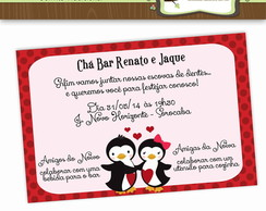 Convite Ch� Bar Pinguins