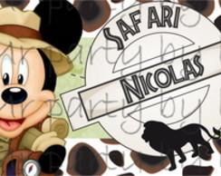 R�tulo Refri / �gua Mickey Safari