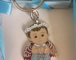 Chaveiro anjo da guarda menino