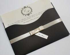 Convite Luxer Slim / Marrom e marfim