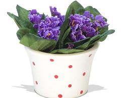 Arranjo de flores violeta 15x15 cm