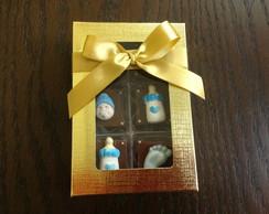 Caixa c\ 6 bombons decorados Maternidade