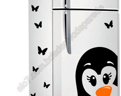 Adesivo Pinguim+filhotegratis+borboletas