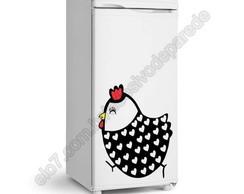 Adesivo de geladeira galinha da angola