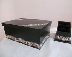 Kit - Porta Controle e Caixa Decorada