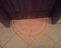 Tapete de porta semicirculo
