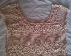 Vestido de croch� - Salm�o