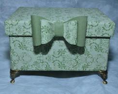 Caixa presente-caixa forrada c/ tecido