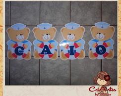 Bandeirolas Urso Marinheiro