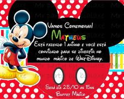 Convite Mickey e sua turma 9 cm