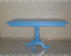 Mesa Azul P� Torneado 1,30 COMP.