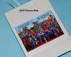 Sacolinha personalizada Her�is Marvel