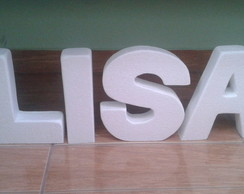 Letras decorativas 3D -22x5