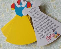 Convite Branca de Neve [vestido com tag]
