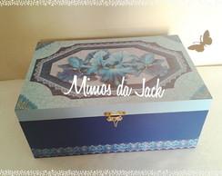 Caixa Porta Esmalte mdf Azul