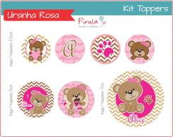 Kit Digital Toppers Ursinha Rosa