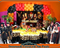 Decora��o Mesa Piratas do Caribe