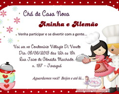 Convite Ch� De Panela - 01