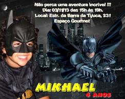 Convite  Batman 4 - c/ envelope e lacre