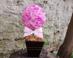Topiaria rosas em e.v.a